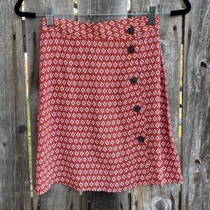 H&M • burnt orange button skirt